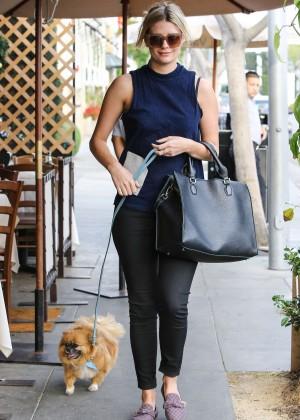 Mischa Barton at Il Pastaio Restaurant in Beverly Hills