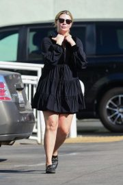 Mischa Barton in Black Mini Dress - Shopping at Petco in West Hollywood