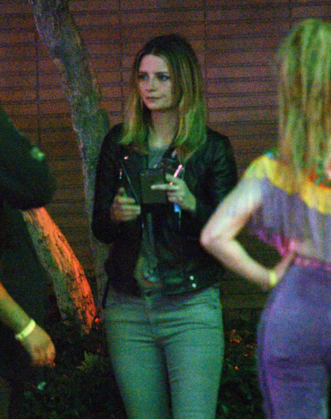 Mischa Barton in Tight Jeans at a rave in Los Angeles