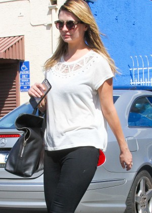 Mischa Barton in Tights at the DWTS studio Hollywood