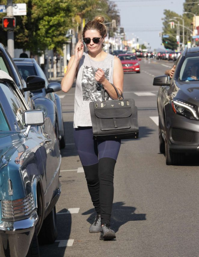 Mischa Barton in Tights out in Beverly Hills