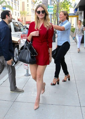 Mischa Barton - Leaves Spago in Beverly Hills