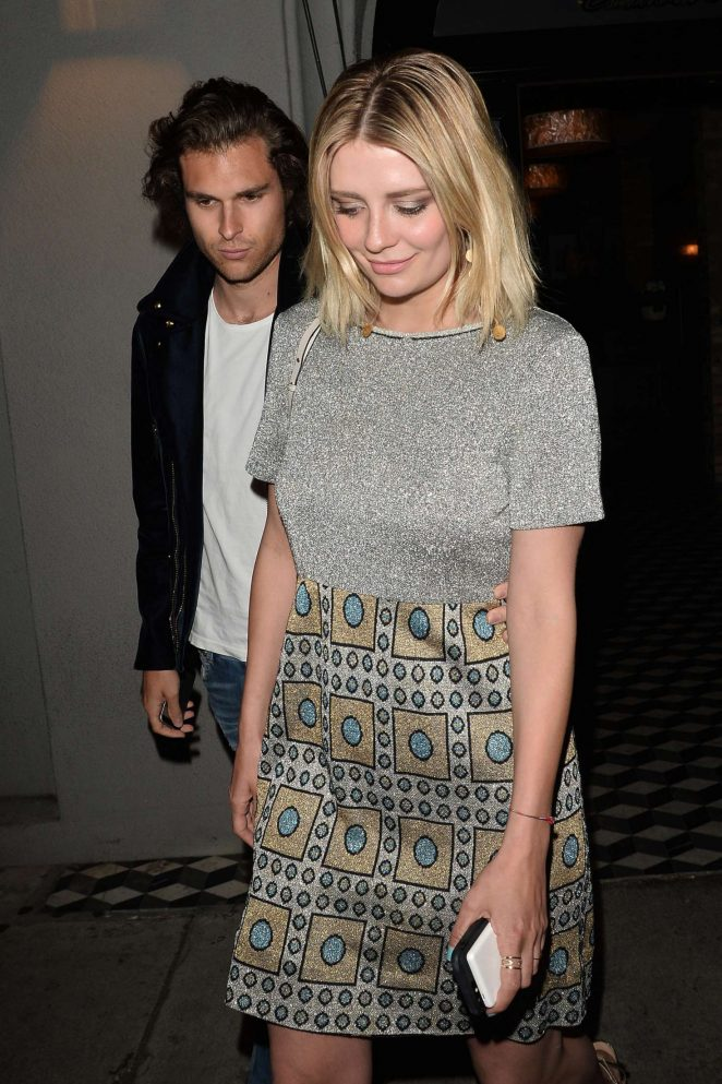Mischa Barton Leaving Craig's Restaurant in West Hollywood