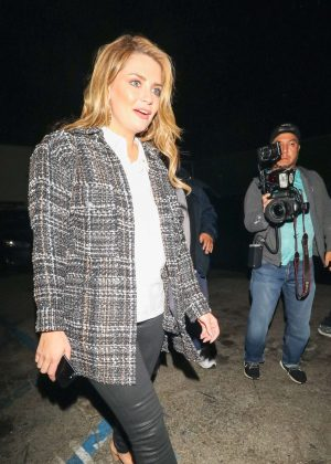Mischa Barton - Leaving Craig's Restaurant in West Hollywood