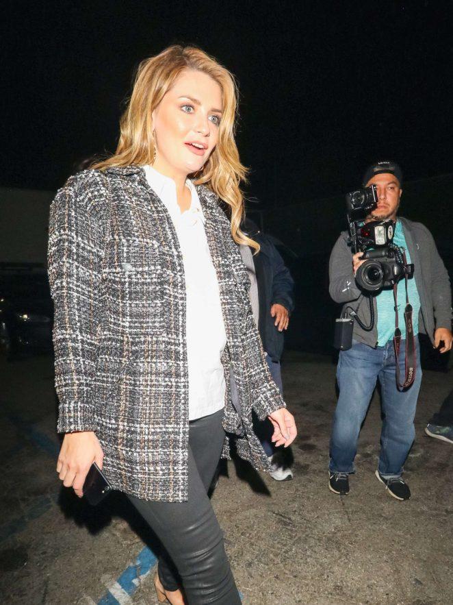 Mischa Barton - Leaving Craig's Restaurant in West Hollywood