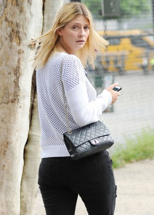 Mischa Barton in Jeans Out in Soho