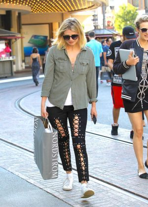 Mischa Barton Shopping at the Grove in Hollywood