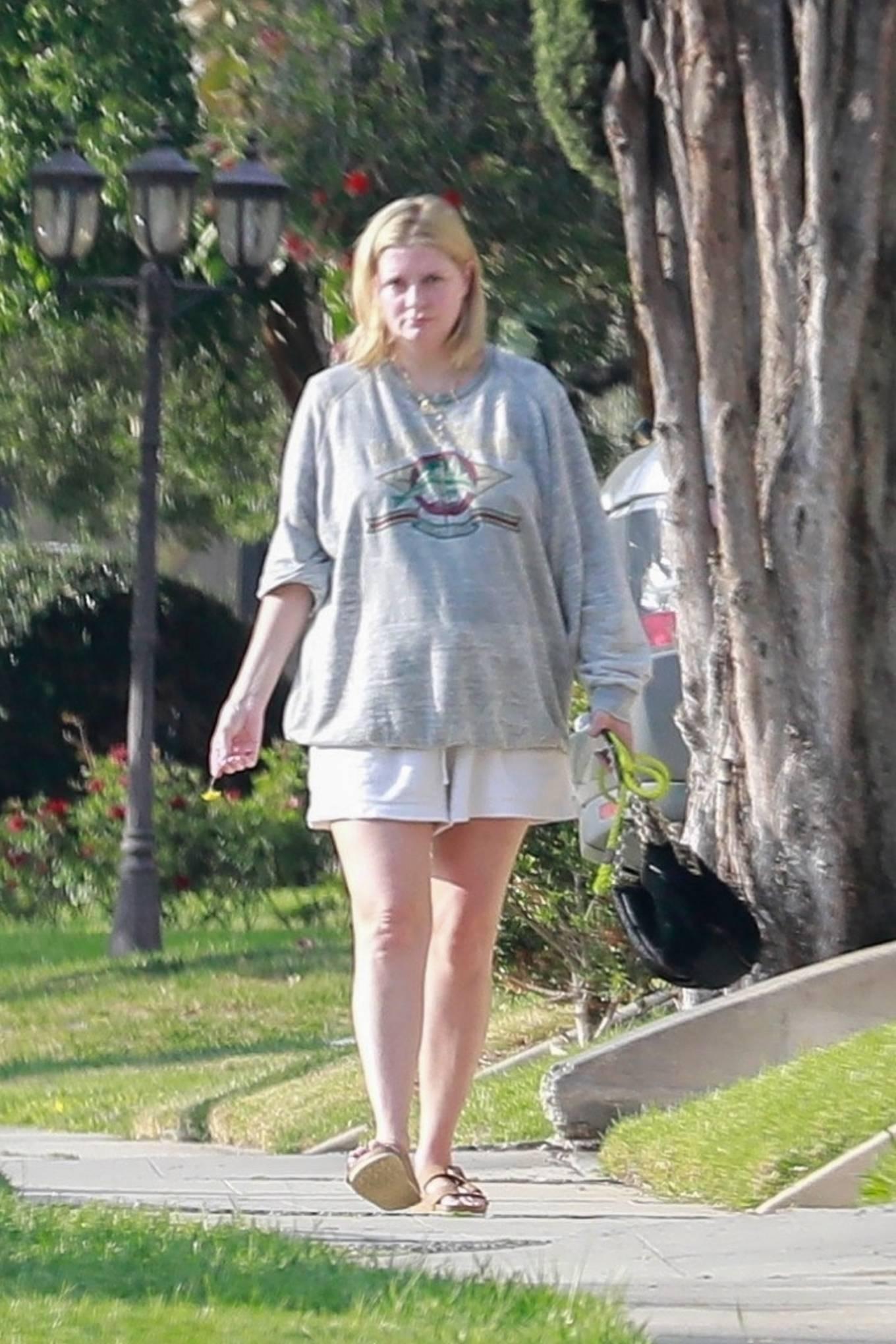 Mischa Barton 2021 : Mischa Barton – Takes her dog for a walk in Los Feliz-15