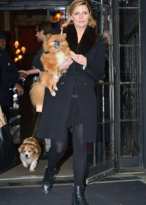Mischa Barton with her dog out in NYC
