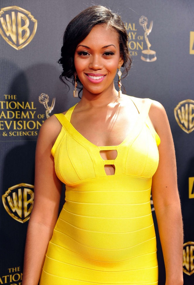 Mishael Morgan - 2015 Daytime Emmy Awards in Burbank