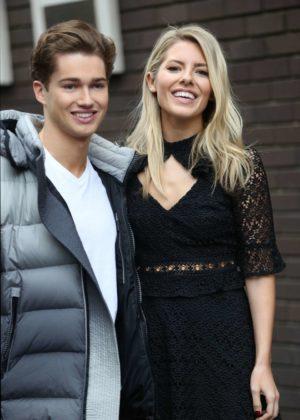 Mollie King and AJ Pritchard - Leaving ITV Studios in London