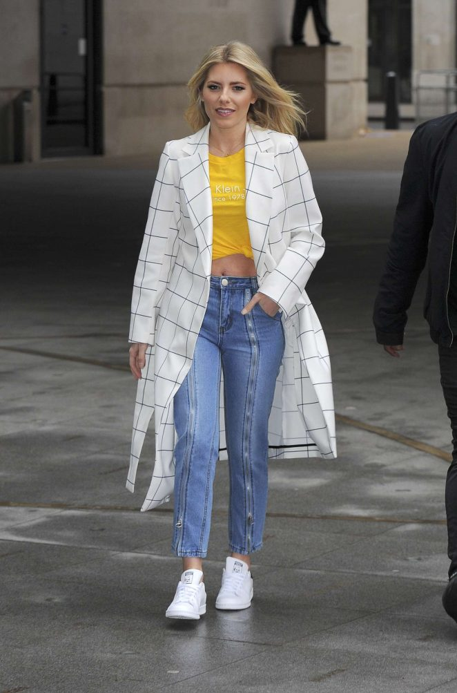 Mollie King - Arrives at BBC Broadcasting House in London