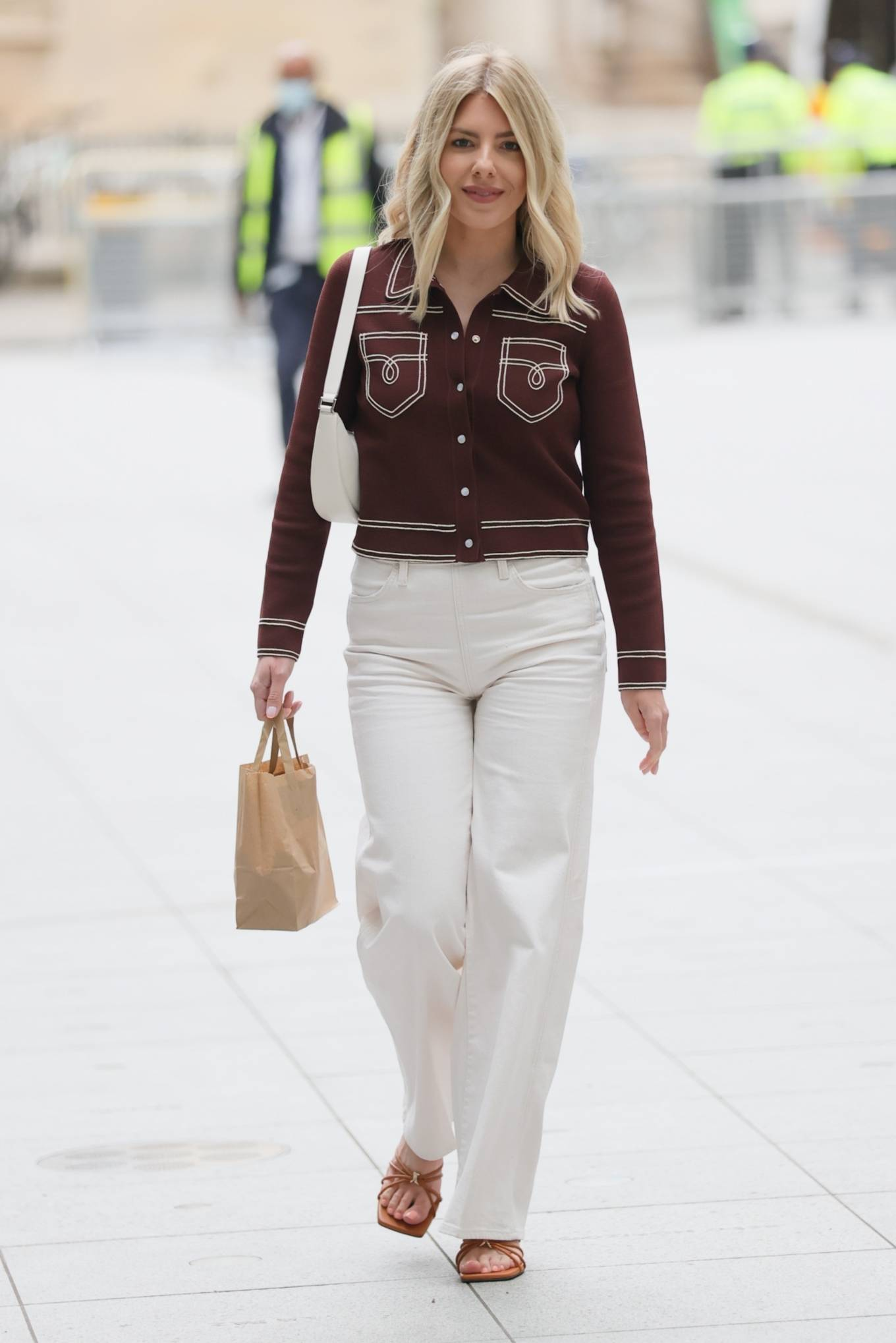 Mollie King - arrives at the BBC studios in London