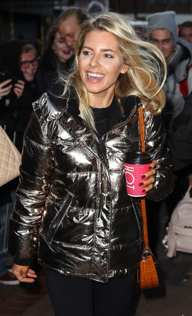 Mollie King - Arrives at the Tower Ballroom in Blackpool