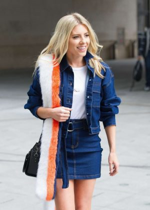 Mollie King - Arriving at BBC Radio One in London