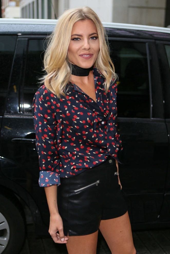 Mollie King Arriving at BBC Radio One Studios in London