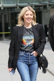 Mollie King - As seen leaving the BBC in London