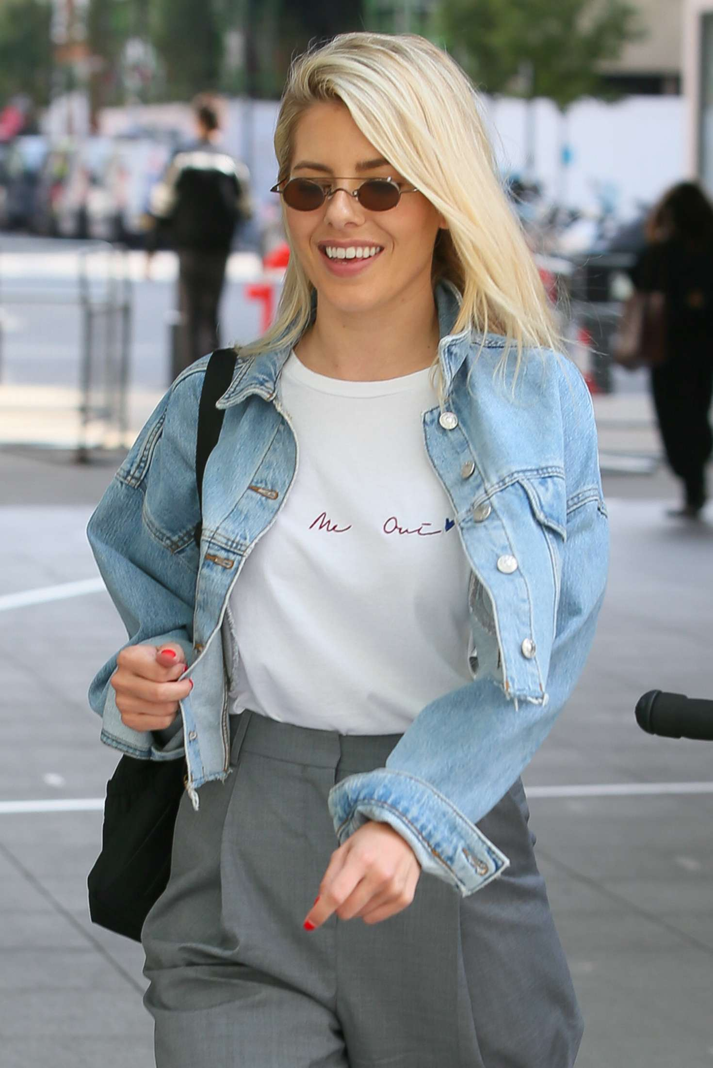 Mollie King at BBC Radio One Studios in London