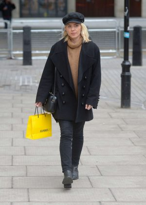 Mollie King at the BBC Radio 1 studios in London