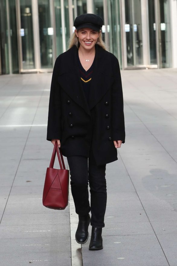 Mollie King - Exits BBC studios in London