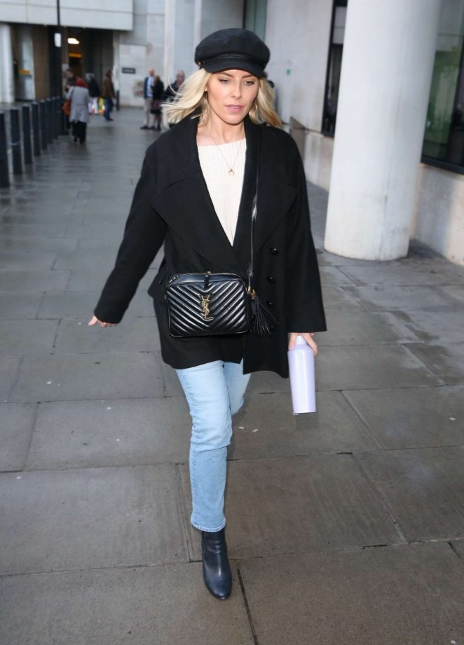 Mollie King – Exits BBC studios in London