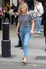 Mollie King in Jeans at BBC Radio One Studios in London
