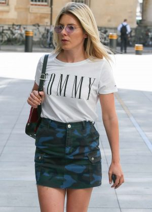 Mollie King in Mini Skirt - Arrives at BBC Radio Studios in London