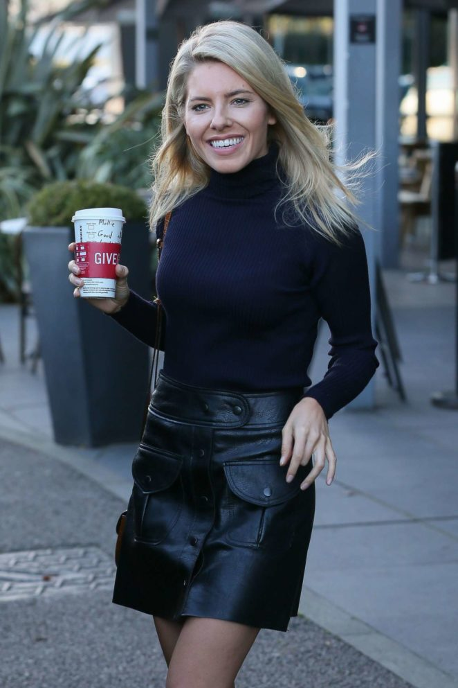 mollie king in mini skirt leaving her hotel in london gotceleb