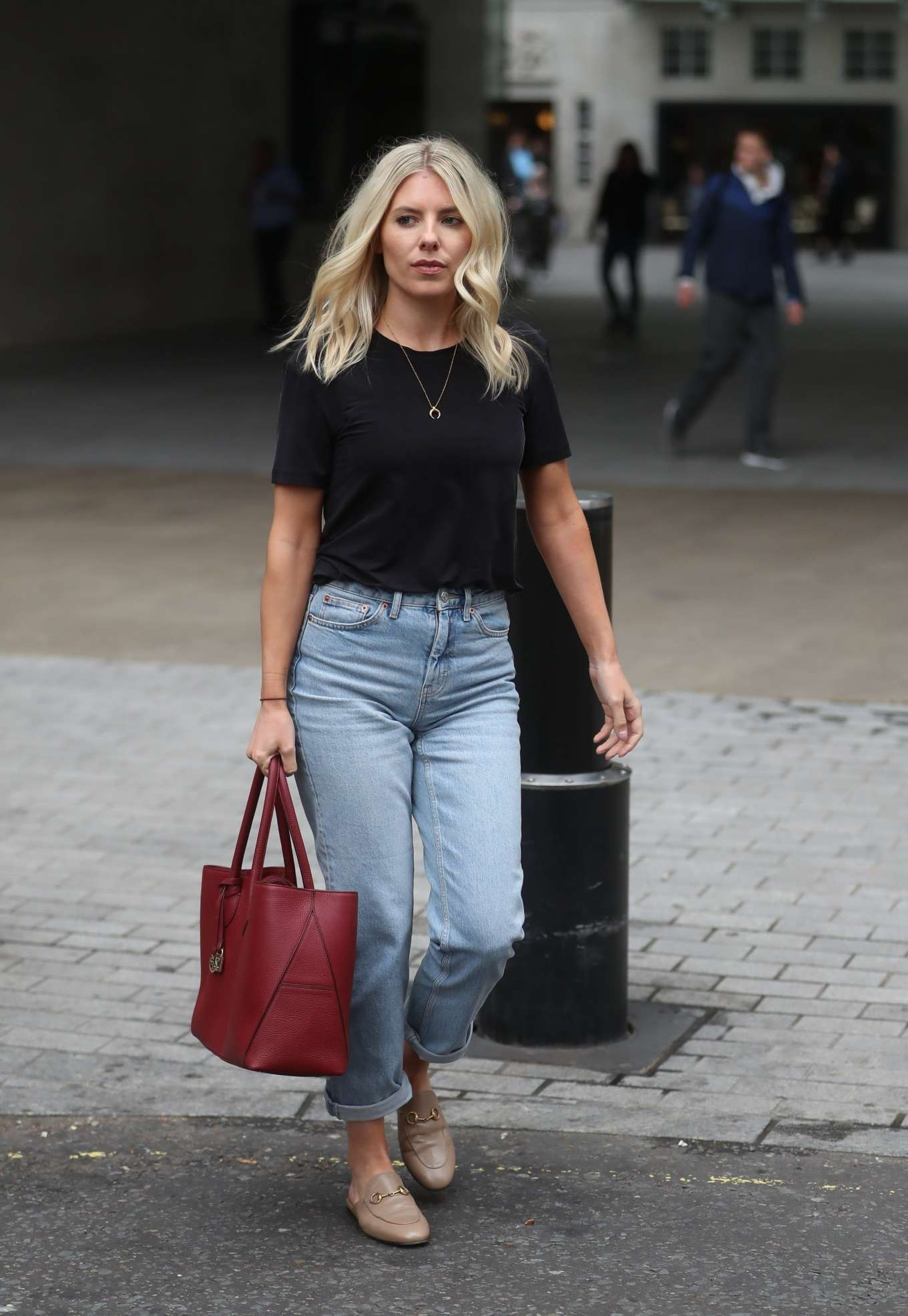 Mollie King - Leaving the BBC studios in London