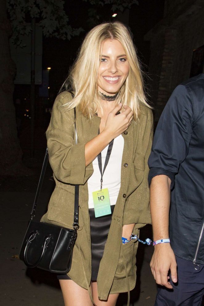 Mollie King Leaving the Britney Spears concert in Camden