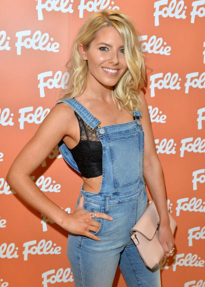 Mollie King - New Folli Follie Flagship Store on Oxford St Launch in London