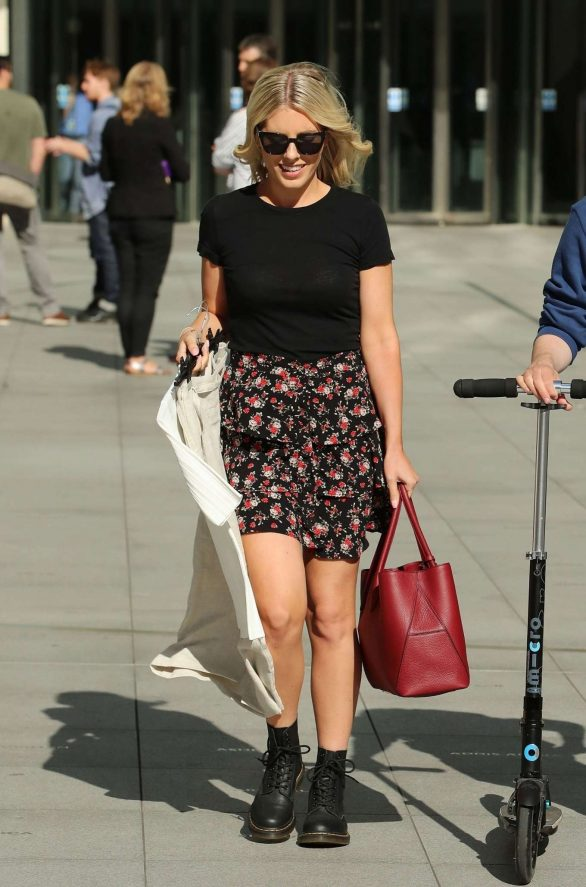 Mollie King - Outside the BBC Studios in London