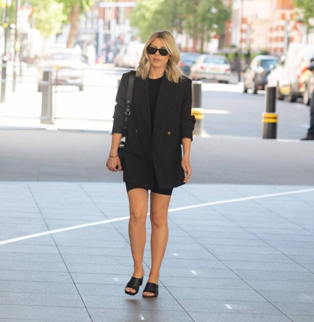 Mollie King - Seen at the BBC Radio One Studios in London