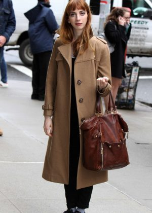 Molly Bernard on 'Younger' set in Manhattan