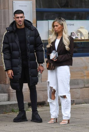 Molly-Mae Hague and Tommy Fury - Seen while out in Cheshire