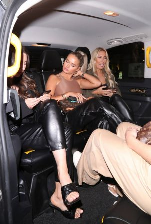 Molly-Mae Hague - Nightout with friends at Novikov Mayfair in London