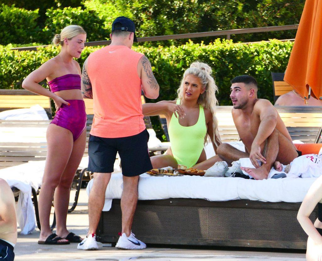 Molly-Mae Hague poolside in Las Vegas