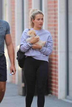 Molly Mae Hague with Boyfriend Tommy Fury out in Manchester