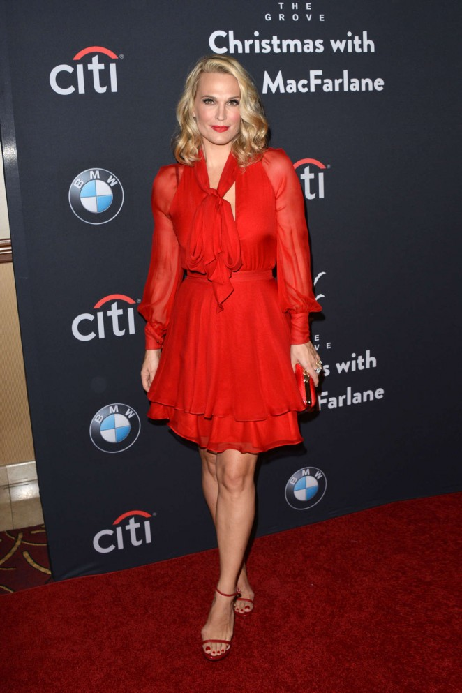 Molly Simms - The Grove Christmas with Seth MacFarlane in LA