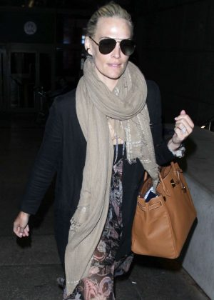 Molly Sims at LAX airport in Los Angeles