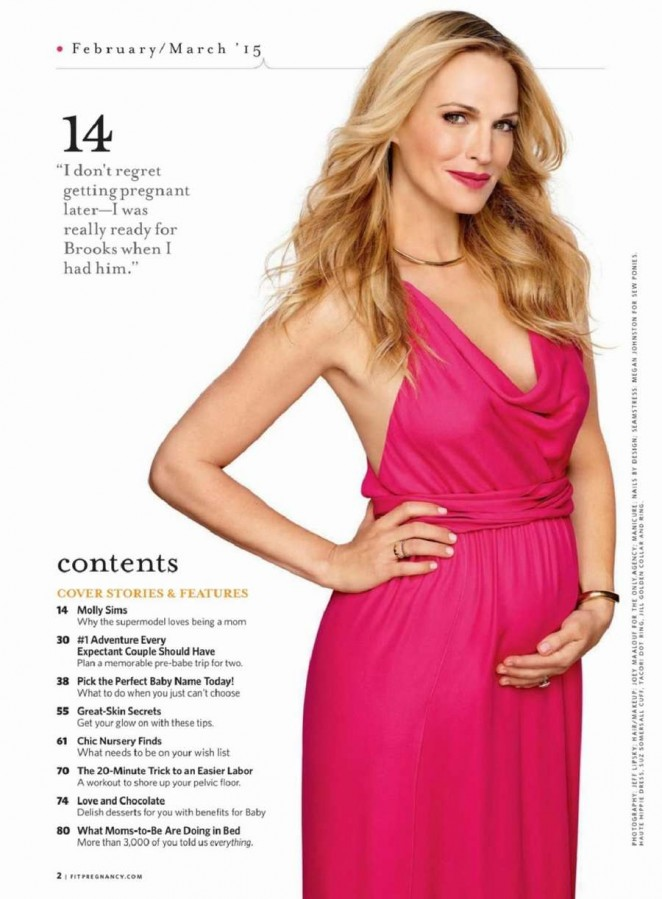 Molly Sims - Fit Pregnancy Magazine (February/March 2015)