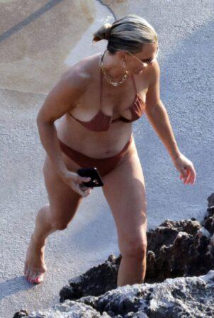 Molly Sims - In a bikini in Capri
