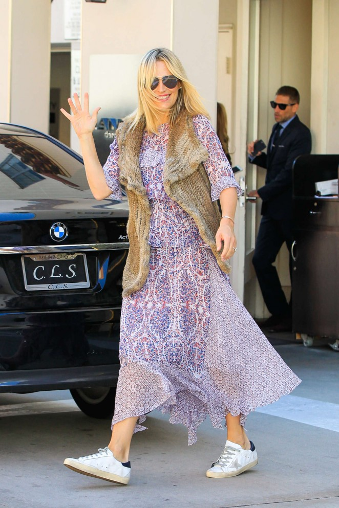 Molly Sims in Long Dress out in Los Angeles