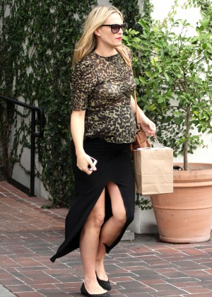 Molly Sims - Leaves A.O.C. Restaurant in Beverly Hills