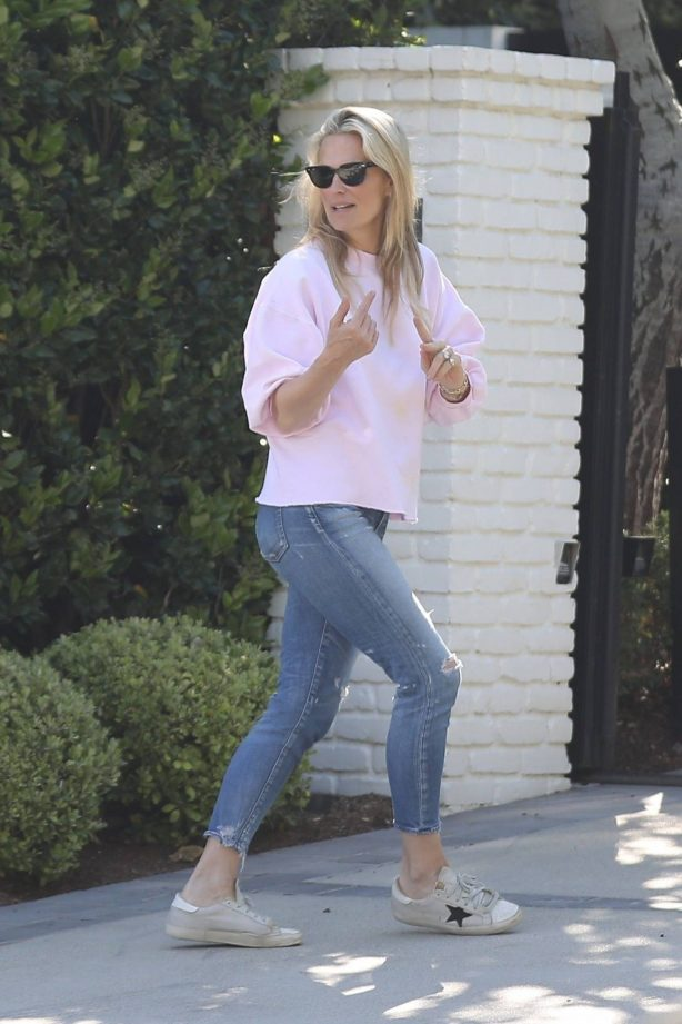 Molly Sims - Pictured at her home