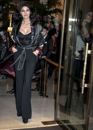 Monica Bellucci - Arrives at the birthday party of Domenico Dolce Nella in Milan