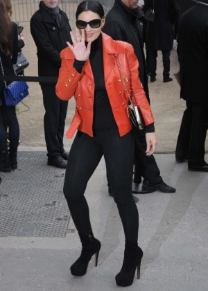 Monica Bellucci - Arriving at Chanel Fashion Show 2016 in Paris