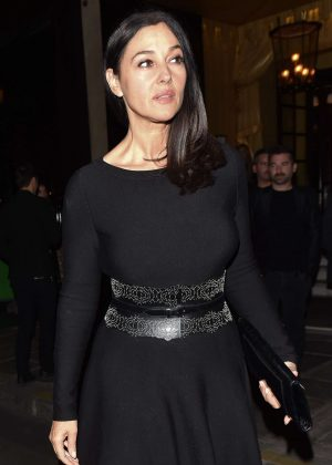 Monica Bellucci at the Costes hotel in Paris