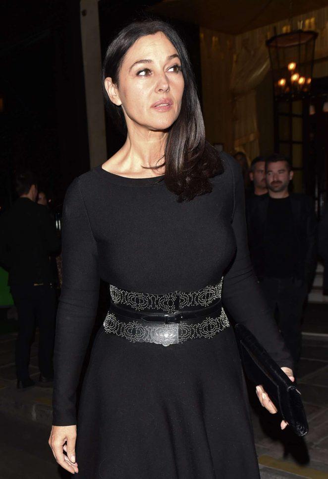 Monica Bellucci at the Costes hotel in Paris