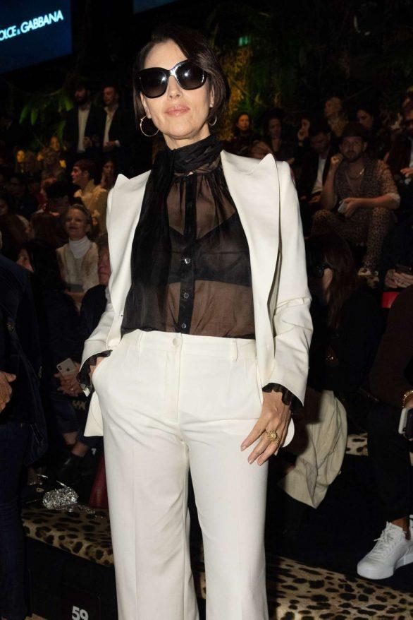 Monica Bellucci - Dolce & Gabbana Fashion Show at Milan Fashion Week
